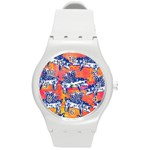 Little Flying Pigs Round Plastic Sport Watch (M) Front