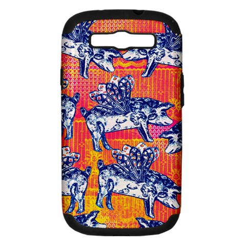 Little Flying Pigs Samsung Galaxy S III Hardshell Case (PC+Silicone)
