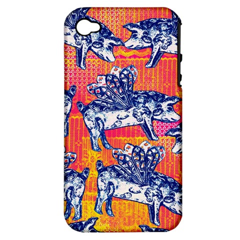 Little Flying Pigs Apple iPhone 4/4S Hardshell Case (PC+Silicone)