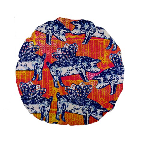 Little Flying Pigs Standard 15  Premium Round Cushions