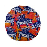 Little Flying Pigs Standard 15  Premium Round Cushions Back