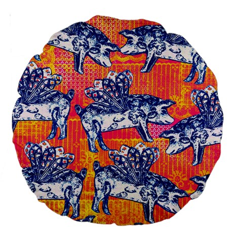 Little Flying Pigs Large 18  Premium Round Cushions