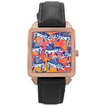 Little Flying Pigs Rose Gold Leather Watch  Front