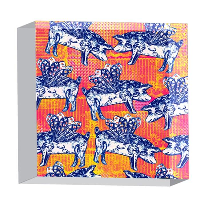 Little Flying Pigs 5  x 5  Acrylic Photo Blocks