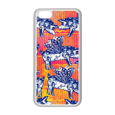 Little Flying Pigs Apple iPhone 5C Seamless Case (White)