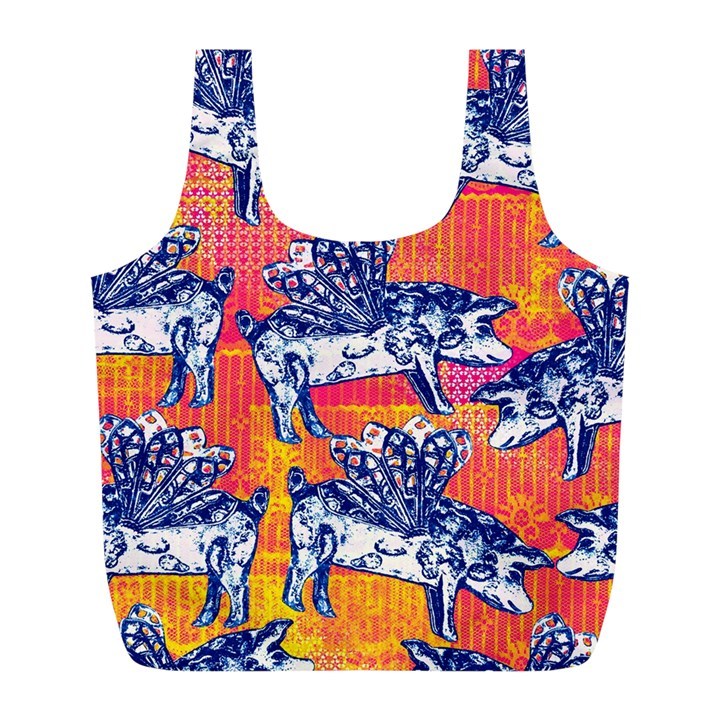Little Flying Pigs Full Print Recycle Bags (L)