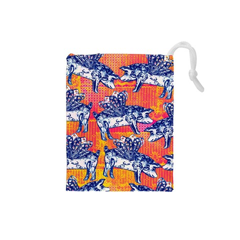 Little Flying Pigs Drawstring Pouches (Small)