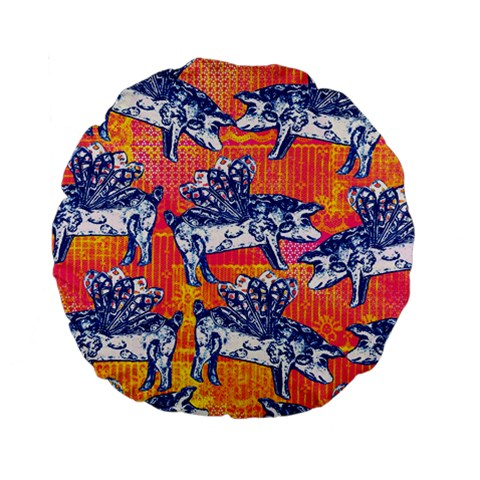 Little Flying Pigs Standard 15  Premium Flano Round Cushions