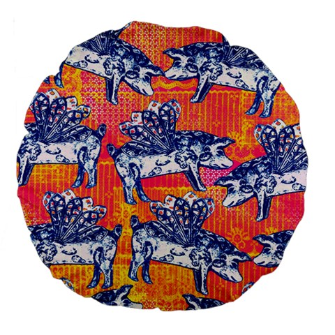 Little Flying Pigs Large 18  Premium Flano Round Cushions