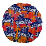 Little Flying Pigs Large 18  Premium Flano Round Cushions Front