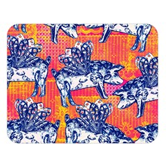 Little Flying Pigs Double Sided Flano Blanket (Large)