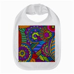 Pop Art Paisley Flowers Ornaments Multicolored Bib Front