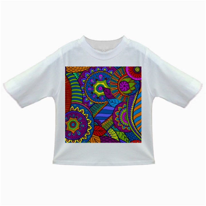 Pop Art Paisley Flowers Ornaments Multicolored Infant/Toddler T-Shirts
