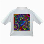 Pop Art Paisley Flowers Ornaments Multicolored Infant/Toddler T-Shirts Back