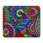 Pop Art Paisley Flowers Ornaments Multicolored Large Mousepads Front