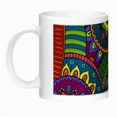 Pop Art Paisley Flowers Ornaments Multicolored Night Luminous Mugs