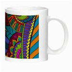 Pop Art Paisley Flowers Ornaments Multicolored Night Luminous Mugs Right