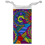 Pop Art Paisley Flowers Ornaments Multicolored Jewelry Bags Front