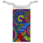 Pop Art Paisley Flowers Ornaments Multicolored Jewelry Bags Back