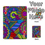 Pop Art Paisley Flowers Ornaments Multicolored Playing Cards 54 Designs  Front - Diamond3