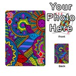 Pop Art Paisley Flowers Ornaments Multicolored Playing Cards 54 Designs  Front - Diamond10