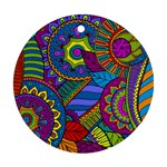 Pop Art Paisley Flowers Ornaments Multicolored Round Ornament (Two Sides)  Front