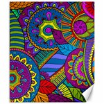 Pop Art Paisley Flowers Ornaments Multicolored Canvas 8  x 10  10.02 x8 Canvas - 1