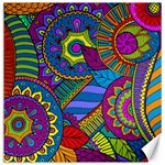 Pop Art Paisley Flowers Ornaments Multicolored Canvas 12  x 12   12 x12 Canvas - 1