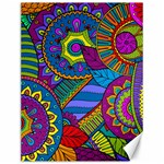 Pop Art Paisley Flowers Ornaments Multicolored Canvas 12  x 16   16 x12 Canvas - 1