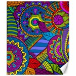 Pop Art Paisley Flowers Ornaments Multicolored Canvas 20  x 24   24 x20 Canvas - 1