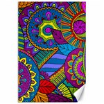 Pop Art Paisley Flowers Ornaments Multicolored Canvas 24  x 36  36 x24 Canvas - 1