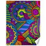 Pop Art Paisley Flowers Ornaments Multicolored Canvas 36  x 48   48 x36 Canvas - 1