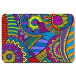 Pop Art Paisley Flowers Ornaments Multicolored Large Doormat  30 x20 Door Mat - 1