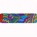 Pop Art Paisley Flowers Ornaments Multicolored Large Bar Mats 34 x9.03 Bar Mat - 1