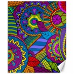 Pop Art Paisley Flowers Ornaments Multicolored Canvas 11  x 14   14 x11 Canvas - 1