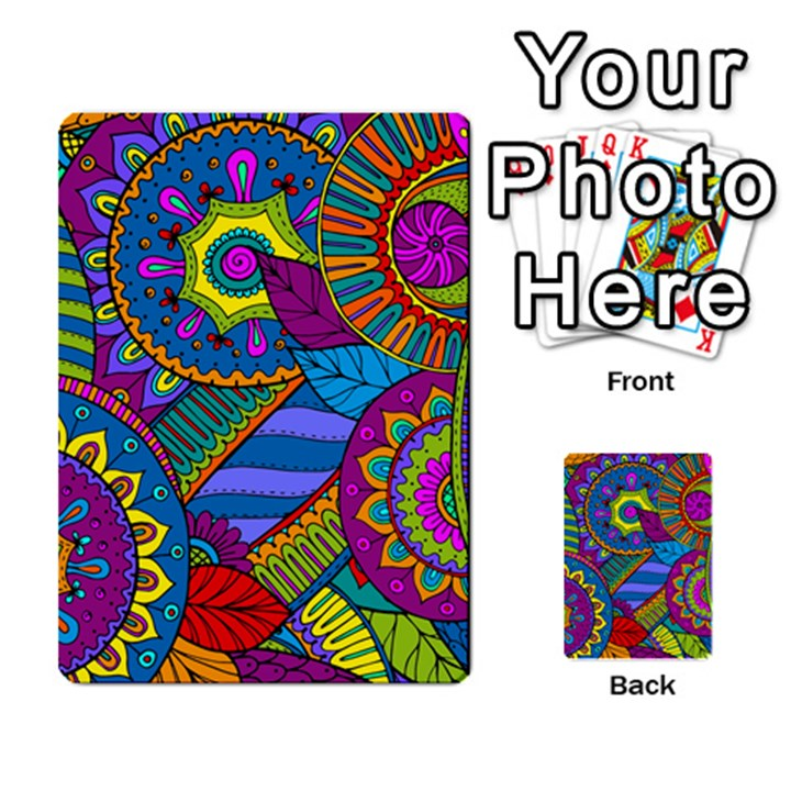 Pop Art Paisley Flowers Ornaments Multicolored Multi-purpose Cards (Rectangle)