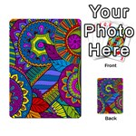 Pop Art Paisley Flowers Ornaments Multicolored Multi-purpose Cards (Rectangle)  Back 38