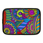 Pop Art Paisley Flowers Ornaments Multicolored Netbook Case (Medium)  Front