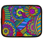 Pop Art Paisley Flowers Ornaments Multicolored Netbook Case (Large) Front