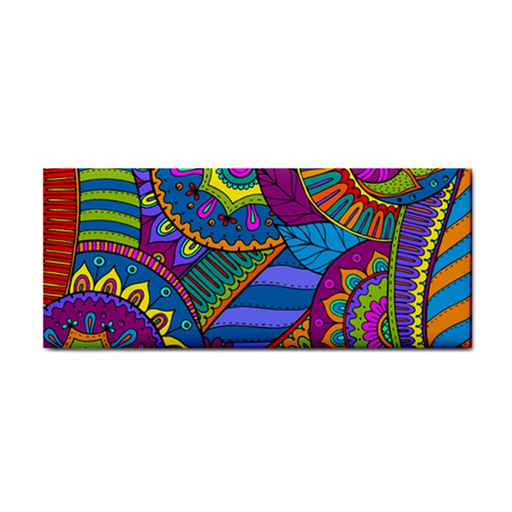 Pop Art Paisley Flowers Ornaments Multicolored Hand Towel