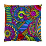 Pop Art Paisley Flowers Ornaments Multicolored Standard Cushion Case (Two Sides) Back