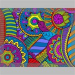 Pop Art Paisley Flowers Ornaments Multicolored Canvas 16  x 12  16  x 12  x 0.875  Stretched Canvas