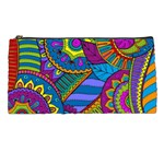 Pop Art Paisley Flowers Ornaments Multicolored Pencil Cases Front