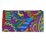 Pop Art Paisley Flowers Ornaments Multicolored Pencil Cases Back