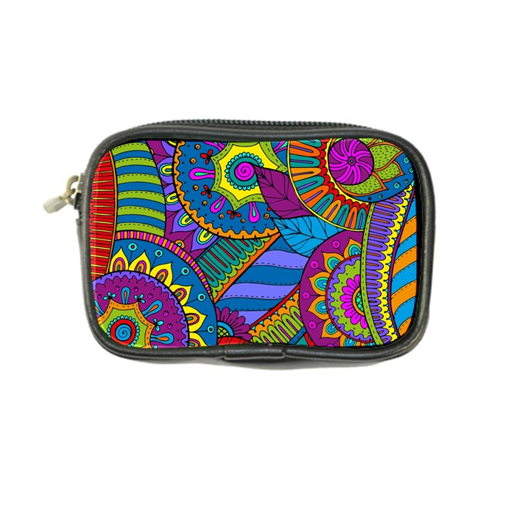 Pop Art Paisley Flowers Ornaments Multicolored Coin Purse