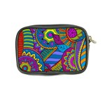 Pop Art Paisley Flowers Ornaments Multicolored Coin Purse Back
