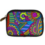 Pop Art Paisley Flowers Ornaments Multicolored Digital Camera Cases Front