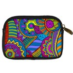 Pop Art Paisley Flowers Ornaments Multicolored Digital Camera Cases Back
