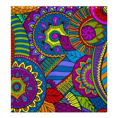 Pop Art Paisley Flowers Ornaments Multicolored Shower Curtain 66  X 72  (large)