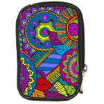 Pop Art Paisley Flowers Ornaments Multicolored Compact Camera Cases Front